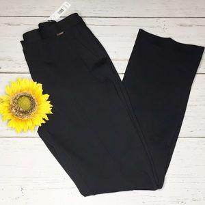 Tahari Black Straight Leg Pants Size 8 NWT